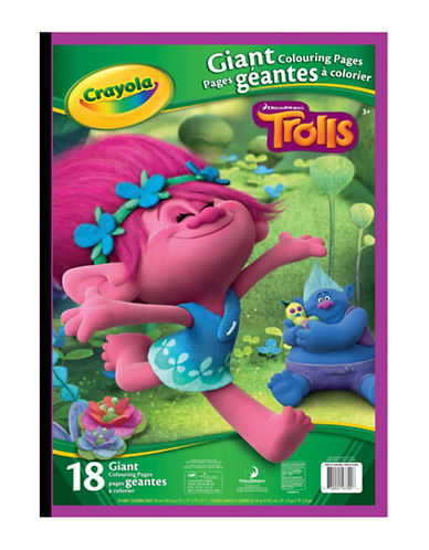 Crayola Trolls Giant Colouring Pages-MULTI-One Size
