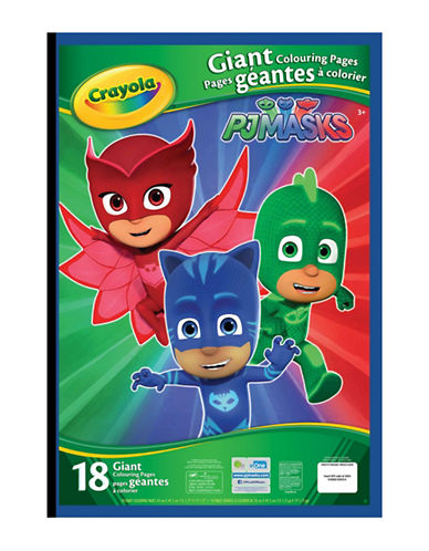 Crayola Pj Masks Giant Colouring Pages-MULTI-COLOURED-One Size