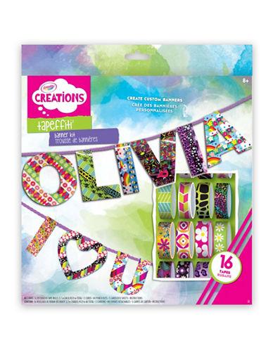Crayola Creations Tapefitti Banner Kit-MULTI-One Size