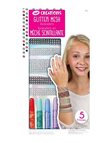 Crayola Creations Glitter Mesh Bracelets-MULTI-One Size