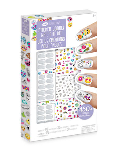 Crayola Creations Sticker Doodle Nail Art Kit-ASSORTED-One Size