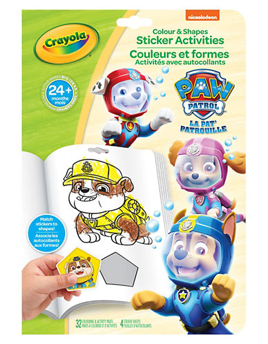 Crayola Paw Patrol My First Colour and Shapes-MULTI-One Size