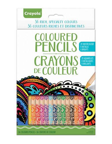 Crayola Aged Up 36 Coloured Pencils Set-MULTI-One Size
