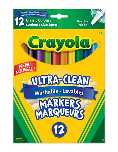 Crayola 24-Piece Fine Line Washable Markers-MULTI-One Size