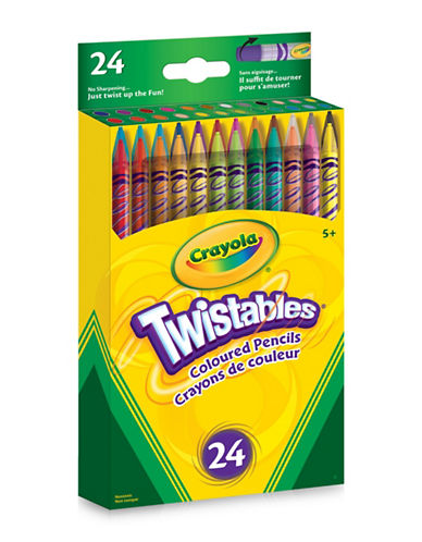 Crayola 24-Pack Twistable Coloured Pencils-MULTI-One Size