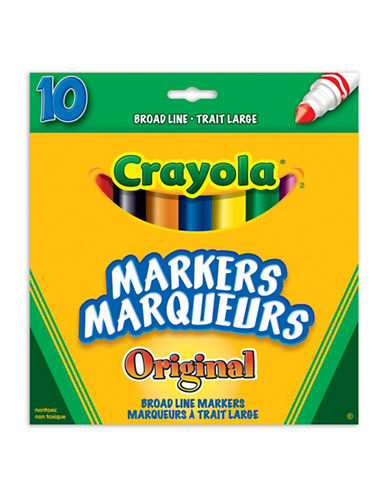 Crayola 10-Piece Broad Line Original Markers-MULTI-One Size