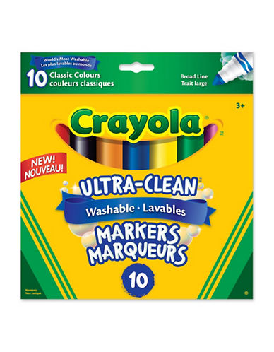 Crayola 10-Piece Broad Line Washable Markers-MULTI-One Size