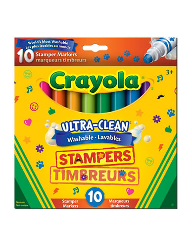 Crayola 10-Pack Broad Line Washable Stampers-MULTI-One Size