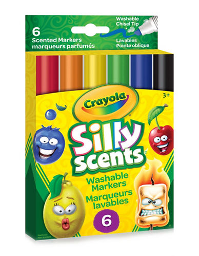 Crayola Six-Piece Silly Scents Wedge Tip Markers-MULTI-COLOURED-One Size