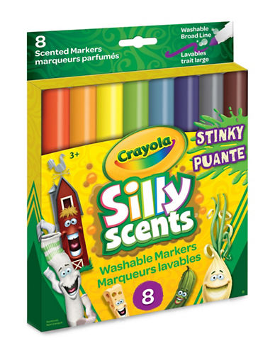 Crayola Eight-Piece Stinky Scents Broadline Marker-MULTI-One Size