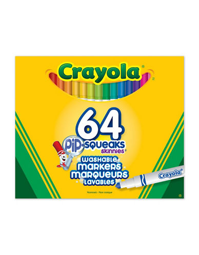 Crayola 64-Piece Pip-Squeaks Skinnies Markers-MULTI-One Size