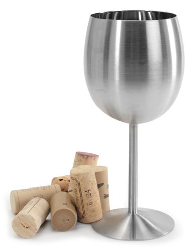 Danesco Stainless Steel Wine Goblet-SILVER-One Size
