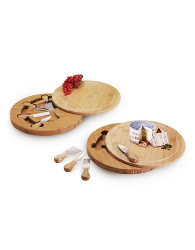 Danesco Swivel Bamboo Cheese Board-BROWN-One Size