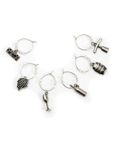 Danesco Wine Charms set of 6-ASSORTED-One Size
