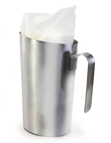 Danesco Stainless Steel Milk Bag Holder-SILVER-One Size