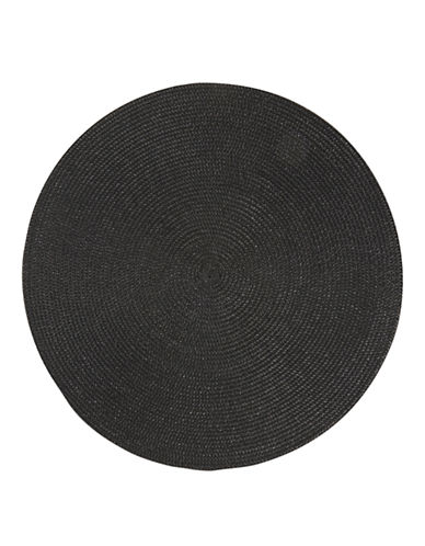 Now Designs Round Woven Placemat-BLACK-Placemat