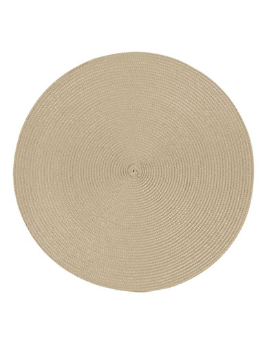 Now Designs Round Woven Placemat-LIGHT TAUPE-Placemat
