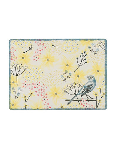 Now Designs Mockingbird Four-Piece Placemat Set-YELLOW-One Size