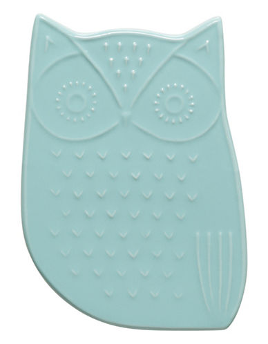 Danica Ceramic Owl Trivet-BLUE-One Size
