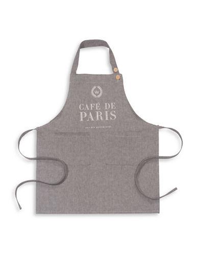 Now Designs Cafe de Paris Chambray Cotton Apron-GREY-One Size