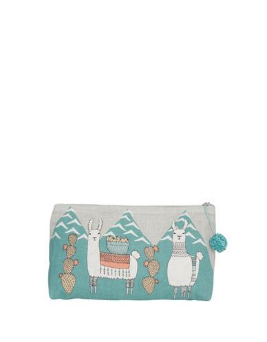 Danica Llamarama Linen Cosmetics Bag-MULTI-COLOURED-Large