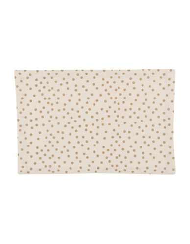 Now Designs Gala Polka Dot Placemat-GOLD-One Size