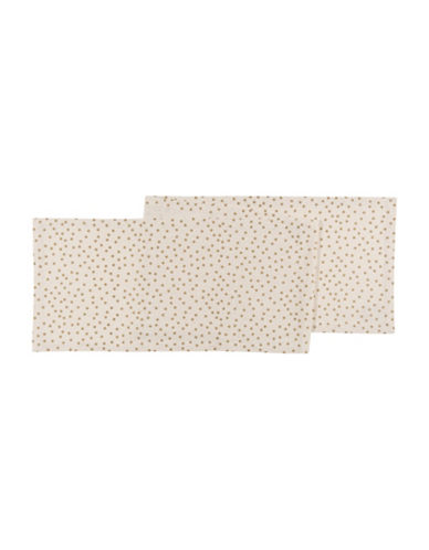 Now Designs Gala Polka Dot Table Runner-GOLD-One Size