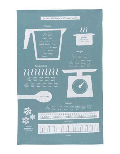 Now Designs Cooks Guide-Print Tea Towel-BLUE-One Size
