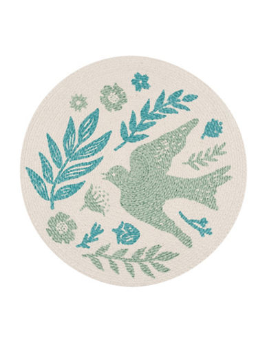 Now Designs Meadowlark Braided Placemat-BLUE-One Size