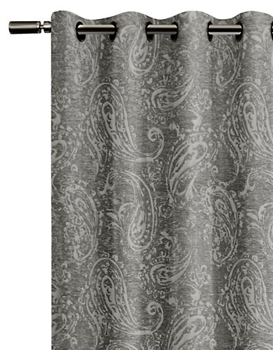 Glucksteinhome Roma Blackout Drape-GREY-96 inches