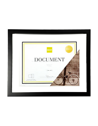 Home Outfitters 8.5-Inch x 11-Inch Document Frame-BLACK-One Size