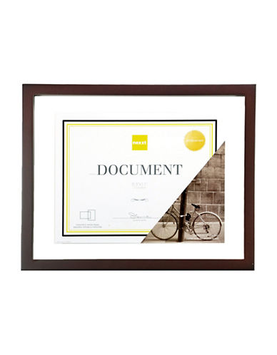 Home Outfitters 8.5-Inch x 11-Inch Document Frame-BROWN-One Size