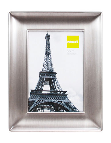 Home Outfitters 5-Inch by 7-Inch Nexxt Devyn Picture Frame-PEWTER-One Size