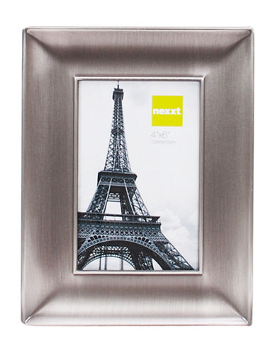 Home Outfitters 4-Inch x 6-Inch Nexxt Devyn Pewter Picture Frame-PEWTER-One Size
