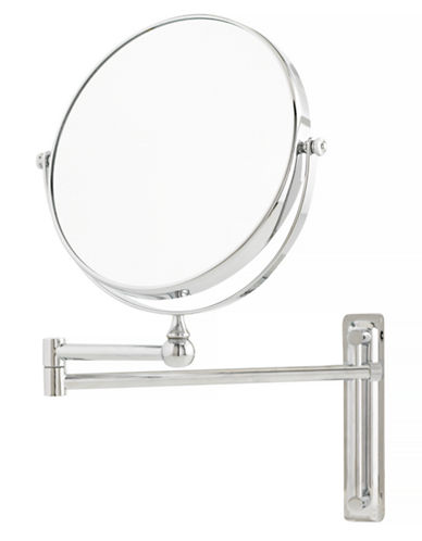 Upper Canada Soap And Candle Co Adjustable Round Mounted Mirror-CHROME-One Size