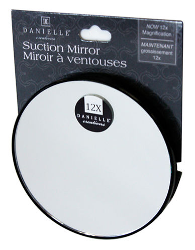 Upper Canada Soap And Candle Co Suction 12x Magnifying Mirror-BLACK-One Size