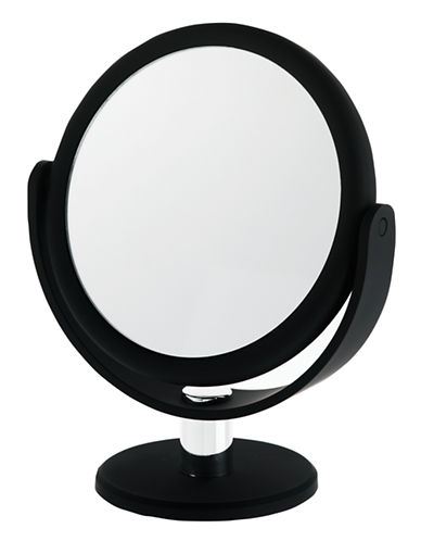 Upper Canada Soap And Candle Co Round Vanity 12x Magnifying Mirror-BLACK-One Size