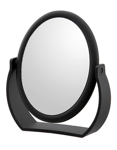 Upper Canada Soap And Candle Co Folding Vanity 7x Magnifying Mirror-BLACK-One Size
