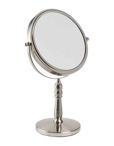 Upper Canada Soap And Candle Co Satin Nickel Vanity Mirror-SILVER-10