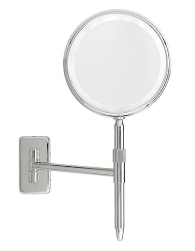 Upper Canada Soap And Candle Co LED Mounted 5x Magnifying Mirror-CHROME-One Size