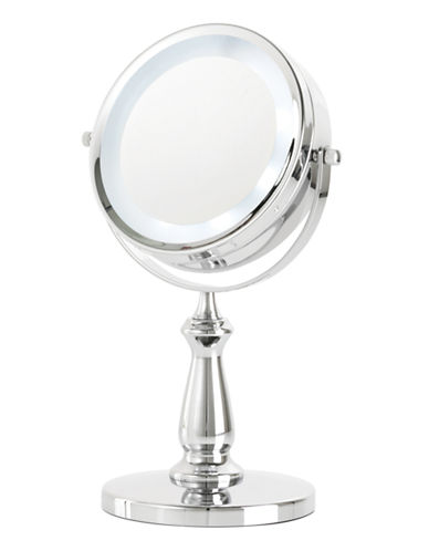 Upper Canada Soap And Candle Co LED Vanity 5x Magnifying Mirror-CHROME-One Size