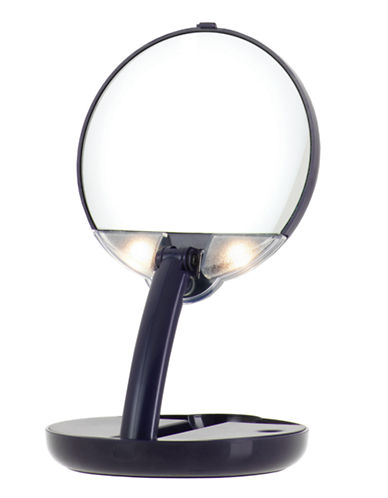 Upper Canada Soap And Candle Co Compact LED 15x Magnifying Mirror-BLACK-One Size