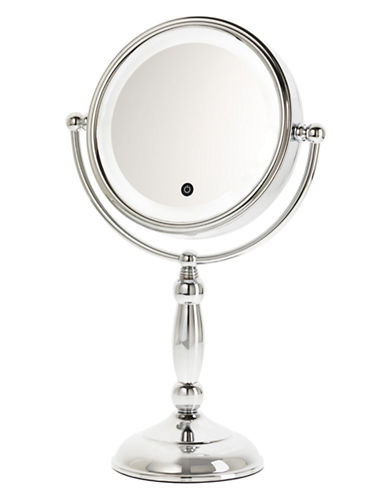 Upper Canada Soap And Candle Co Touch LED 10x Magnifying Mirror-CHROME-One Size