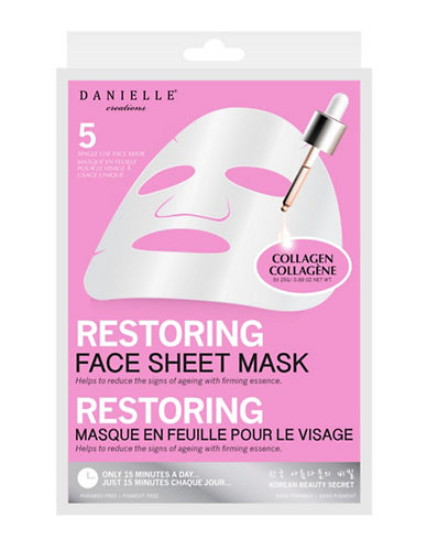 Upper Canada Soap And Candle Co Five-Pack Restoring Face Sheet Mask-WHITE-One Size