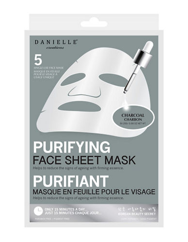 Upper Canada Soap And Candle Co Five-Pack Purifying Face Sheet Mask-WHITE-One Size