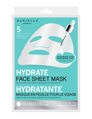 Upper Canada Soap And Candle Co Five-Pack  Danielle Hydrating Sheet Mask-WHITE-One Size
