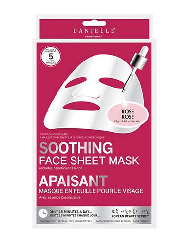 Upper Canada Soap And Candle Co Five-Pack  Danielle Soothing Sheet Mask-WHITE-One Size