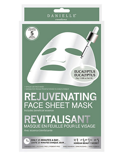 Upper Canada Soap And Candle Co Five-Pack Danielle Rejuvenating Sheet Mask-WHITE-One Size