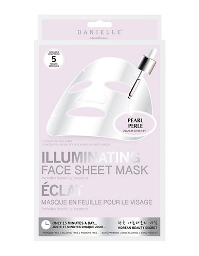Upper Canada Soap And Candle Co Five-Pack Danielle Illuminating Sheet Mask-WHITE-One Size