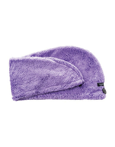 Upper Canada Soap And Candle Co Studio Dry Turban Hair Towel-PURPLE-One Size
